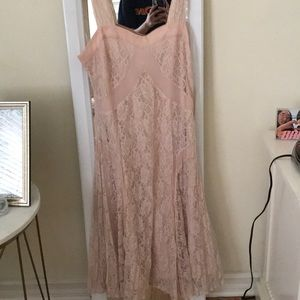 Forever 21 Lace Pink Dress